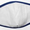 wasbare mondkapjes uni lichtgrijs met blauwe band